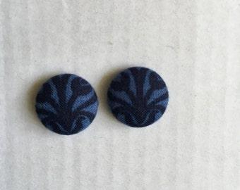 15mm Classic Blue Fabric Studs