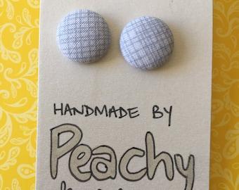 15mm Grey Scratch Fabric Studs