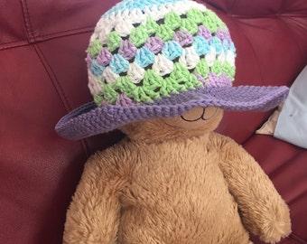Girls crochet sunhat