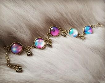 Galaxy Bracelet, Nebula Bracelet, Space Bracelet, Space Jewellery,