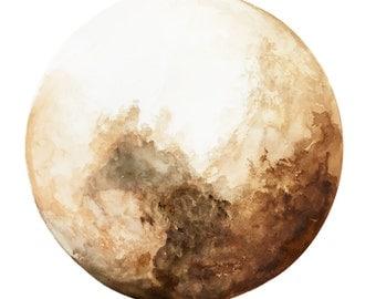Space Rock || Art Print, Luna Art, Moon Art, Moon Decor, Art Decor