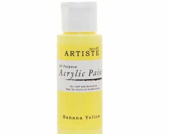 Docraft Acrylic paint - Banana yellow
