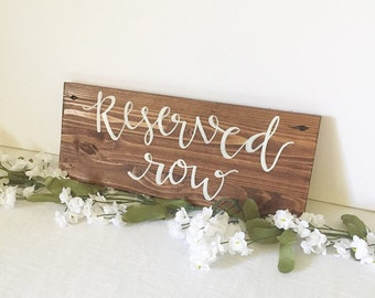 Wedding wood sign wooden sign reserved wedding party sign rustic wedding decor rustic wedding decorations rustic wedding sign rustic sign