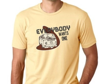 everybody Wants One VW Bus Rockabilly Vintage Inspired Mens Tee Shirt S M L XL 2XL 3XL