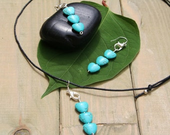 So Cute Howlite Earrings And Necklace