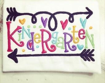 Back to School Shirt // Pre-K Preschool Kindergarten 1st 2nd 3rd 4th 5th 6th Grade Shirt // Monogrammed Shirt // Personalized Shirt