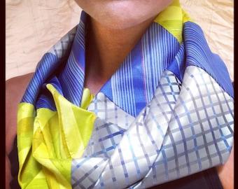 Silk infinite scarf