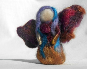 Fairy's Standing, Needle felted, Handmade, Soft sculpture