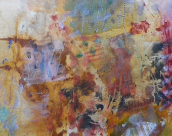 The Merry Go Round, abstract expresionism, mixed medium, painting, paper