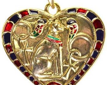Heart Bastet Necklace