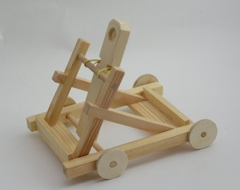Wooden Toy Catapult - Handmade wood toy, designer