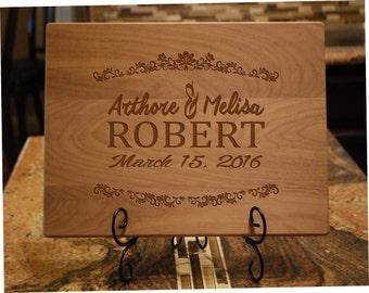 Anniversary gift ,Engraved Cutting Board, Custom Wedding Gift, Personalized Cutting Board, CBT-Arthore&Melisa