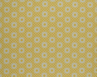 Yellow Fabric Yellow Pie Plate in Lemon Pie Making Day by Brenda Ratliff RjR Fabric Cotton Quilting Fabric, 33 inches