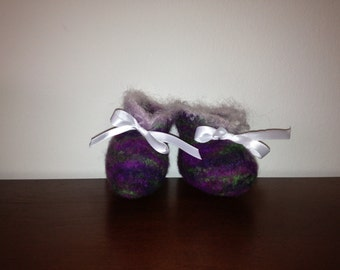 Custom Felted Baby Booties-0-12 months