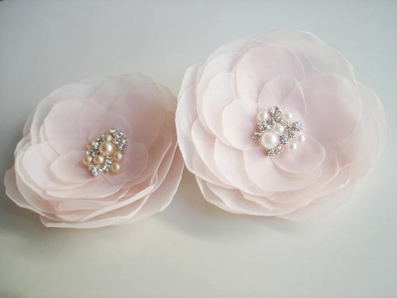 Blush Pink Hair Flower Or Brooch Bridal Wedding: Blush Wedding Hair Accessories Pink Flower By