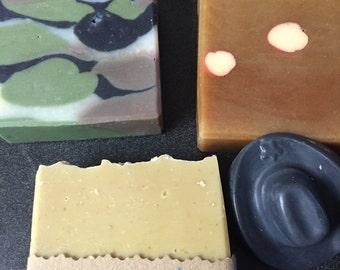 Father's Day Handmade soap - Fireball Soap! Camo Soap! Beer Soap!