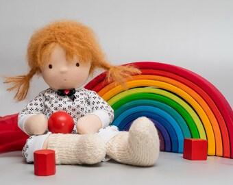 SOLD Waldorf doll, Steiner doll, 16 inch - 40 cm
