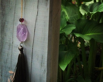 A stunning Amethyst Crystal Necklace