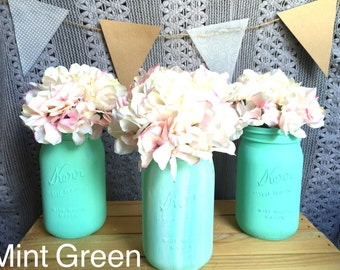 Ombre/Faded Mason Jar Set Pint Size