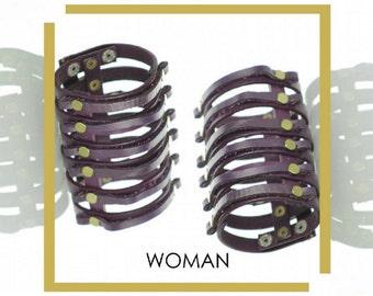 Gladiator style leather handmade bracelet