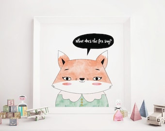 Girl Fox Art Print