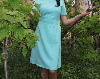 Turquoise blue everyday/career dress