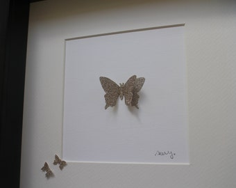 Sparkly golden butterflies