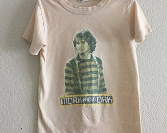 Mork from Ork vintage 70s kids t-shirt Robin Williams rare memorabilia Mork and Mindy