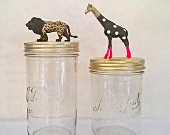 "Jar giraffe polka dot ""strange planet"" /bocal the perfect Scandinavian deco spirit"