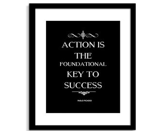 action is the foundational key to success