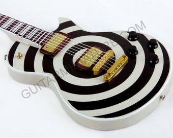 Zakk Wylde Miniature Guitar Including Leather Guitar Strap (20)