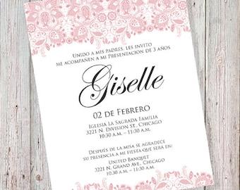 Party Invitation In Spanish with nice invitation design