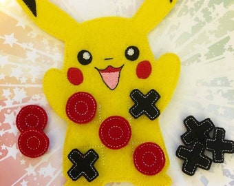Yellow Monster Tic Tac Toe Embroidery Design