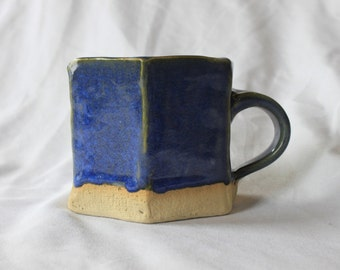 small hexagon mug (blue)