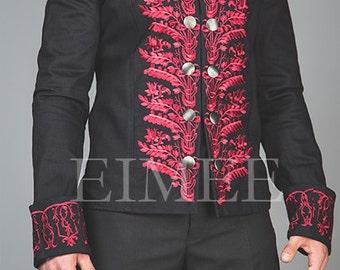 Mens Tailcoat Red Victorian style vintage KENTZ