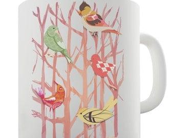 Birds In Branches Ceramic Tea Mug
