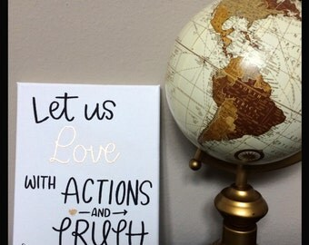 Love: Actions & Truth Canvas