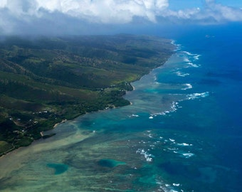 Tropcial Beach of Molokai, Hawaii Near Maui