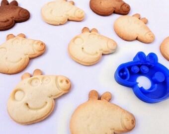 3D printed cookie cutter peppa pig |Cookie stamp peppa
