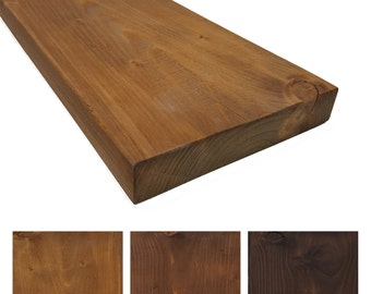 Rustic solid wood wall shelf - 19 cm deep - shelf / bookcase / Regal kitchen / breakf. Colours and sizes