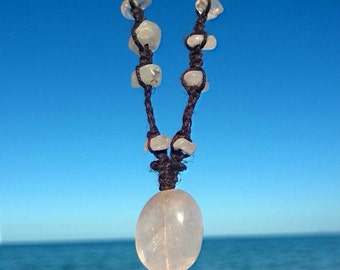 Soft Love-  Rose Quartz Necklace