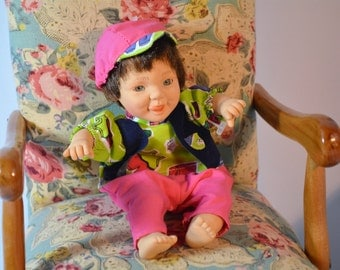 Palm Pals, Boy Baby Doll, Bean Bag Kids, GI GO, Doll, Collectible, Vintage, Ugly Baby
