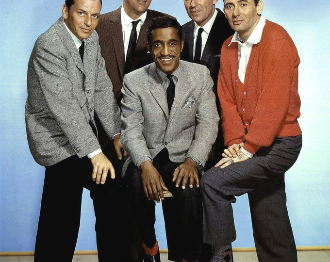 The Rat Pack: Frank Sinatra, Dean Martin, Sammy Davis, Jr, Peter Lawford & Joey Bishop - 5X7 or 8X10 Photo (AA-212)