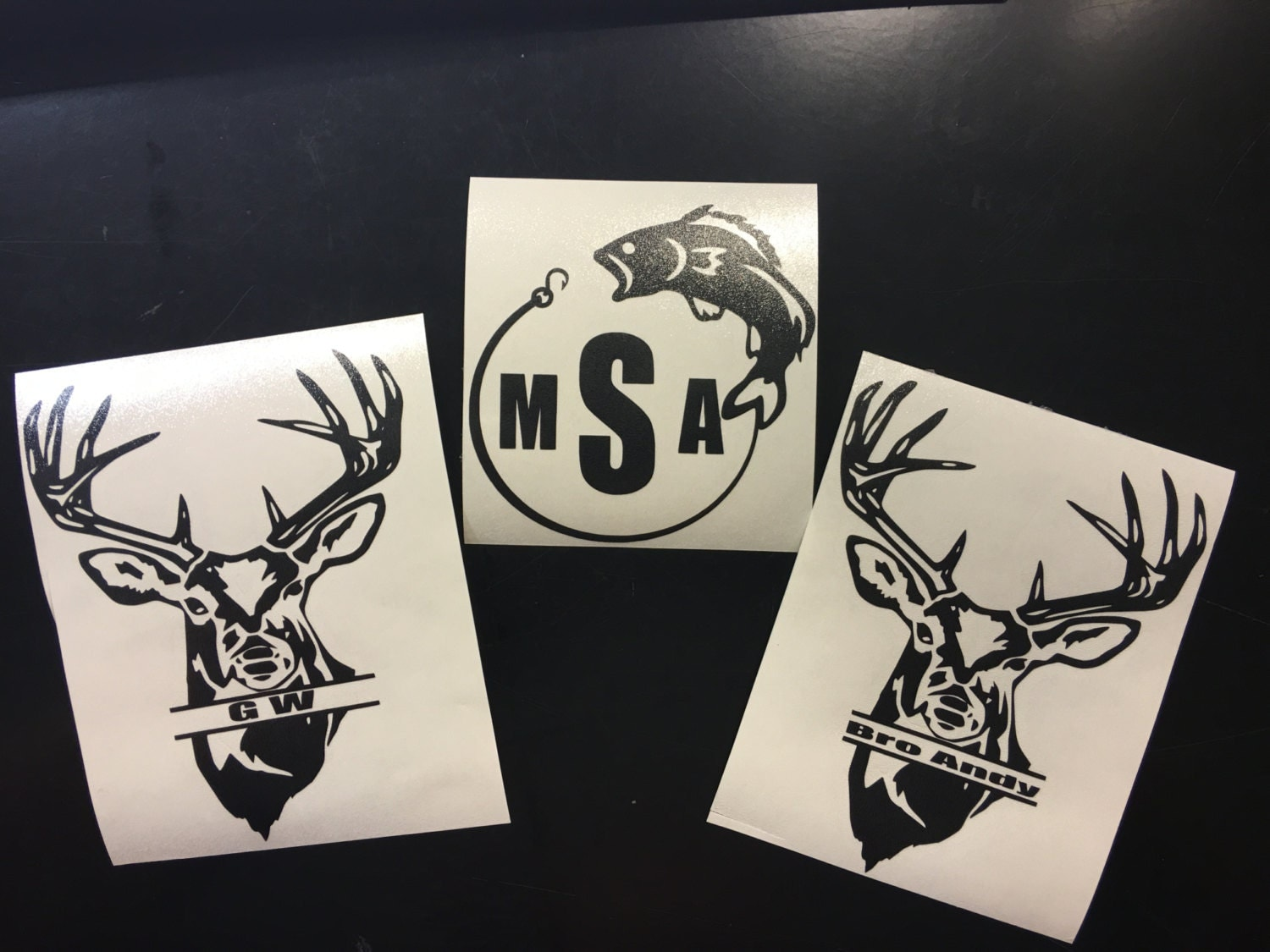 Customized hunting and fishing decals for Hunting and fishing decals