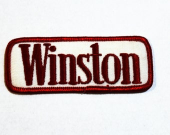 Vintage Winston Cigarettes Sew On Patch