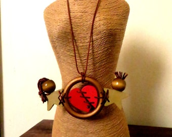 Repaired Heart Statement Necklace