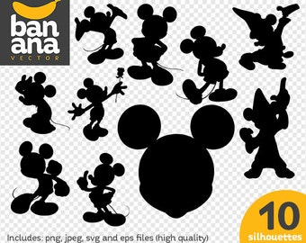 SALE Mickey Mouse png jpg svg eps files high resolution BV-FA-0042