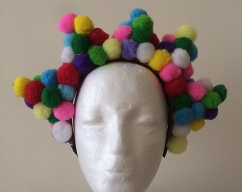 Colourful Pom Pom headband / headdress