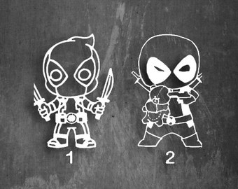 DEADPOOL Vinyl Decal - Multiple colors 2 to choose from!!! 5x5