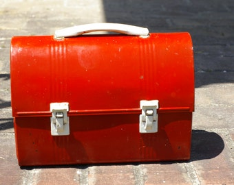 Vintage Dome All-Metal Lunchbox